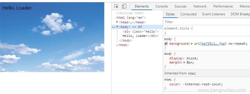 file-loader图片 CSS Webpack教程 姜瑞涛的官方网站
