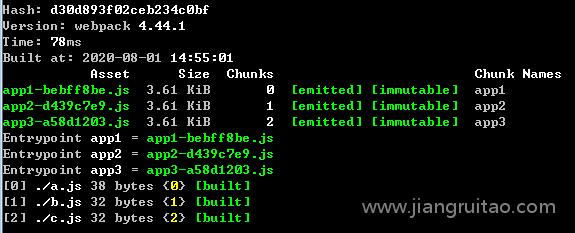hash、chunkhash和contenthash,用chunkhash后不同 Webpack教程 姜瑞涛的官方网站