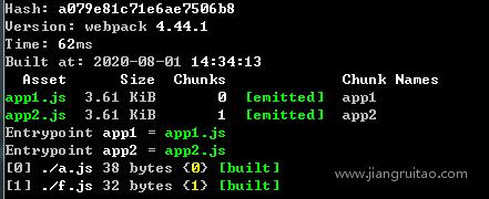 output.filename多入口 Webpack教程 姜瑞涛的官方网站