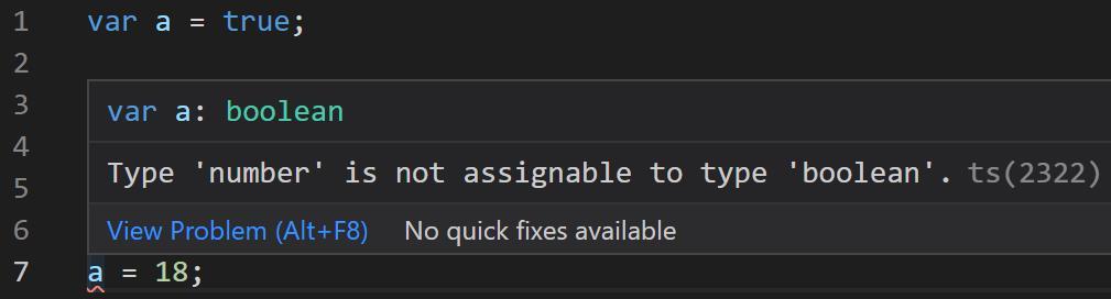TypeScript教程推导出boolean类型错误提示