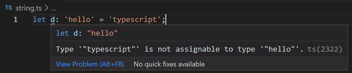TypeScript教程hello类型错误提示