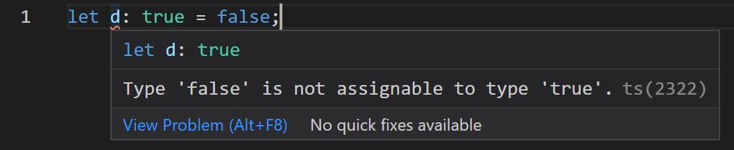 TypeScript教程true类型错误提示